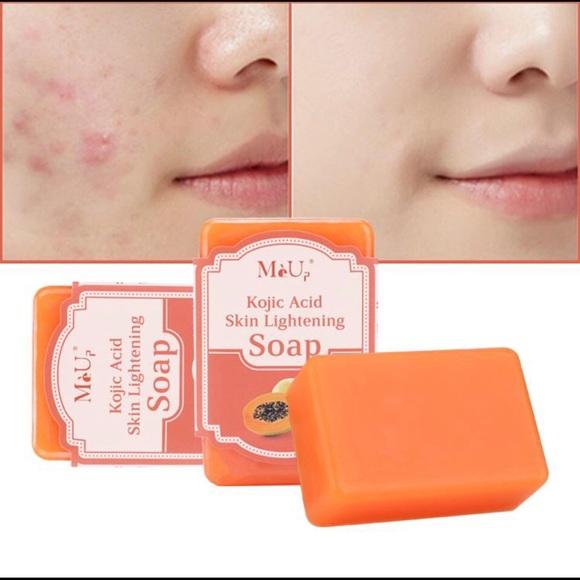 2/$15Papaya Acne Whitening Organic Soap Boackheads